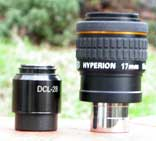 Il William Optics DCL-28 e il Baader Hyperion affiancati.